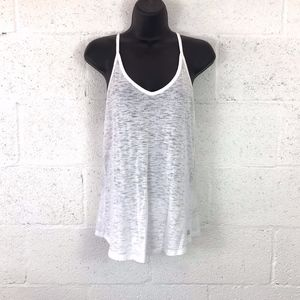 Victoria's Secret Racer back White Burn Out Top